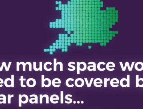How much space would need to be covered by solar panels to power every home in the UK?